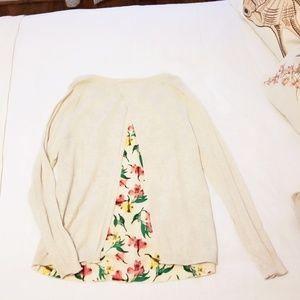 Merona Split-Back Women's Sz XL Oatmeal Sweater